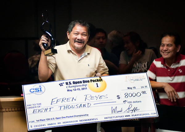 Efren Reyes 2011 US Open One Pocket Champion