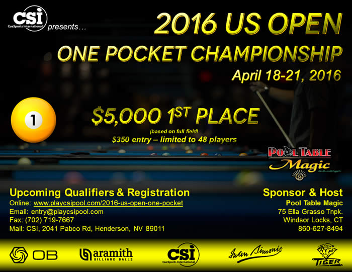 US Open One Pocket 2016